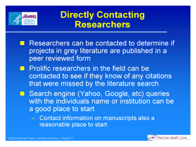 Searching For Relevant Studies Text Version Ahrq Archive