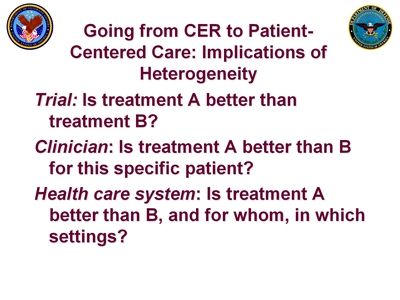 Atkins 2 Slide 1. Going from CER to Patient-Centered Care: Implications of Heterogeneity