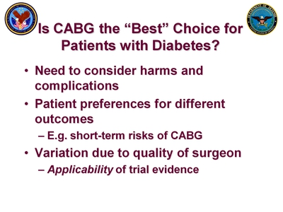 Atkins 2 Slide 4. Is CABG the Best Choice for Patients with Diabetes?
