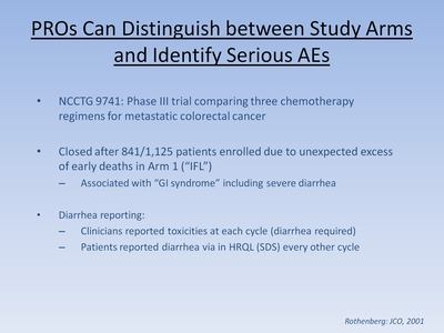 Slide 17. Pros Can Distinuish between Study Arms and Identify Serious AEs