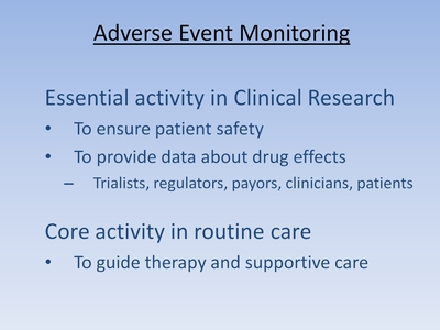 Slide 2. Adverse Event Monitoring