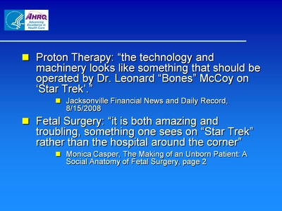 Proton Therapy and Fetal Surgery