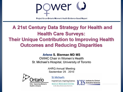 A 21st Century Data Strategy for Health and Health Care Surveys: Their Unique Contribution to Improving Health Outcomes and Reducing Disparities