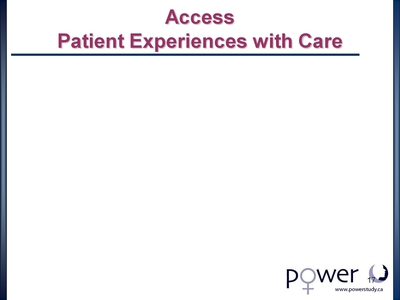 Access Patient Experiences with Care