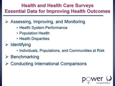 Health and Health Care Surveys: Essential Data for Improving Health Outcomes