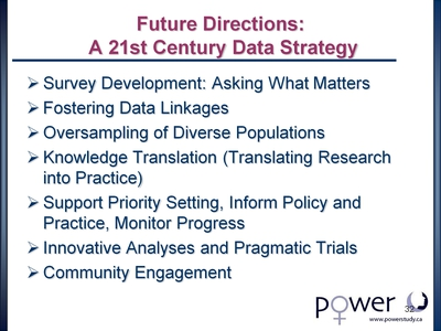 Future Directions: A 21st Century Data Strategy