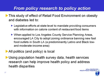 From policy research to policy action