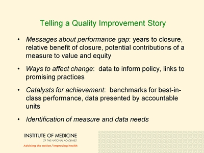 Telling a Quality Improvement Story