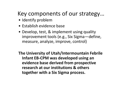 Key components of our strategy . . .