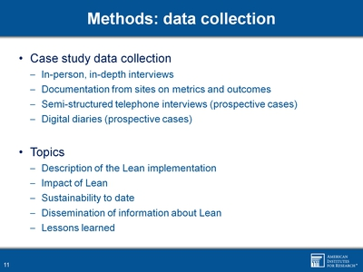 Methods: data collection