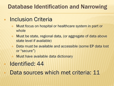 Database Identification and Narrowing