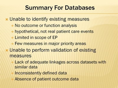 Summary For Databases