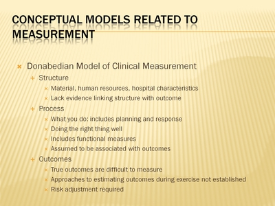 Conceptual Models Related to Measurement