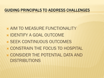 Guiding Principals to Address Challenges