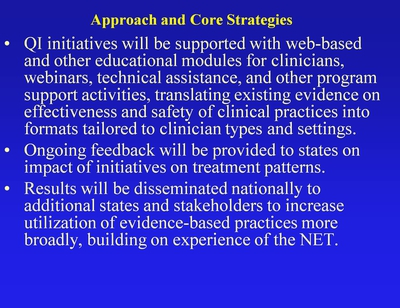Approach and Core Strategies