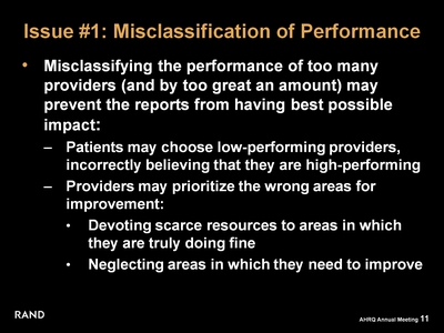 Issue #1: Misclassification of Performance