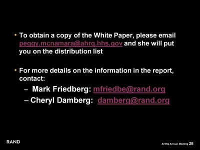 To obtain a copy of the White Paper . . .