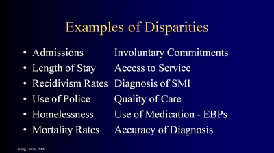 Examples of Disparities