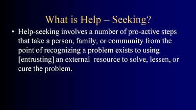What is Help-Seeking?