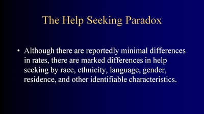 The Help-Seeking Paradox