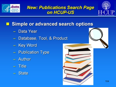 New: Publications Search Page on HCUP-US