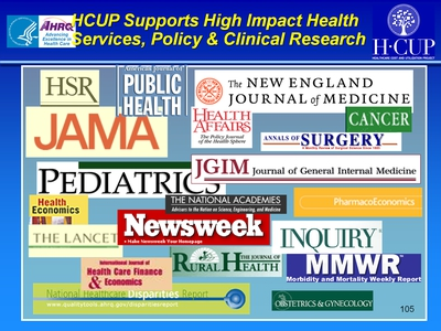 HCUP Supports High Impact Health Services, Policy & Clinical Research