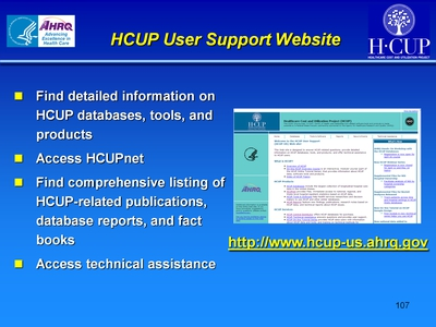 HCUP User Support Web site