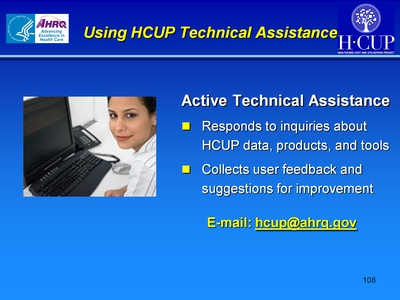 Using HCUP Technical Assistance