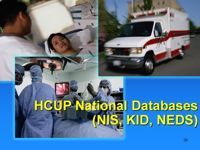 HCUP National Databases (NIS, KID, NEDS)