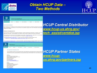 Obtain HCUP Data-Two Methods