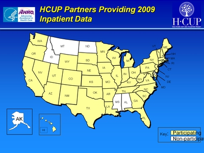HCUP Partners Providing 2009 Inpatient Data