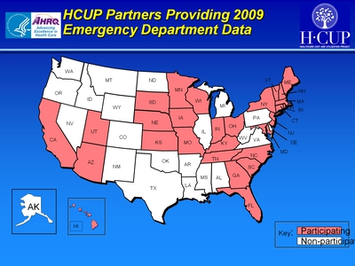 HCUP Partners Providing 2009 Emergency Department Data
