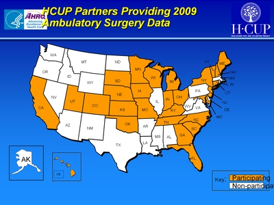 HCUP Partners Providing 2009 Ambulatory Surgery Data