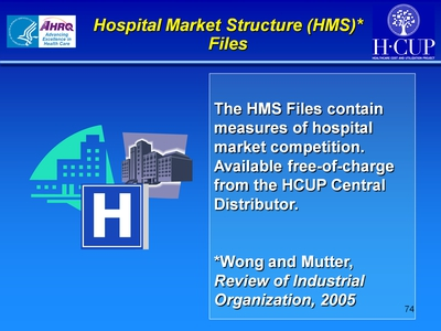 Hospital Market Structure (HMS) Files
