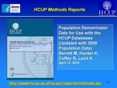 HCUP Methods Reports