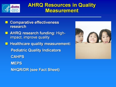 AHRQ Resources in Quality Measurement