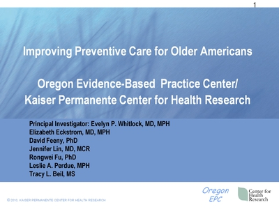 Improving Preventive Care for Older Americans