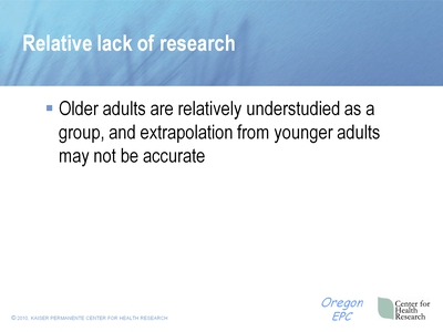 Relative lack of Research