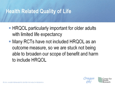 Health Related Quality of Life