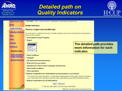 Detailed path on Quality Indicators