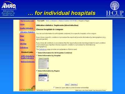 . . . for individual hospitals