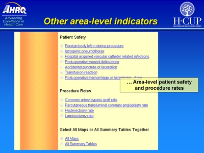 Other area-level indicators