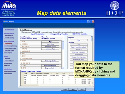 Map data elements