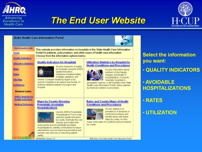 The End User Website