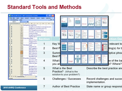 Standard Tools and Methods