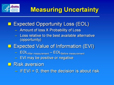 Measuring Uncertainty