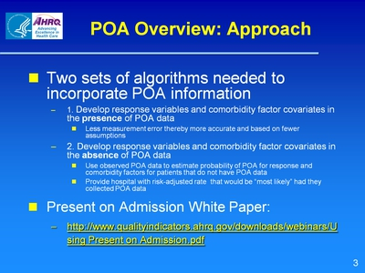 POA Overview: Approach