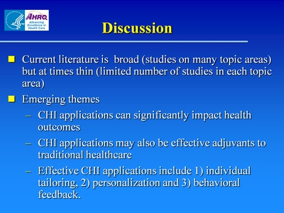 Slide 22. Discussion