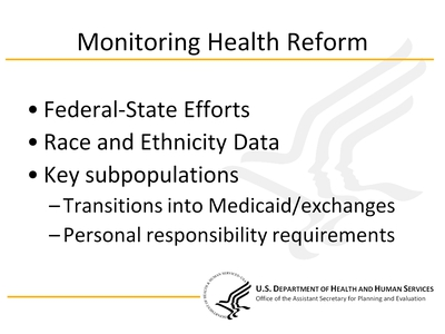 Monitoring Health Reform