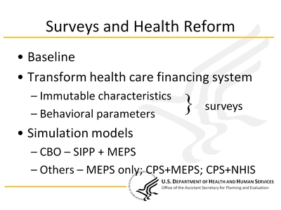 Surveys and Health Reform